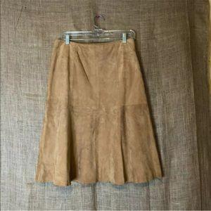VS2 by Vakko Womens Skirt 6 100% Goat Suede Pleats